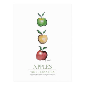 Carte Postale Pommes, fernandes élégants