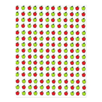 Carte Postale Pommes rouges et vertes