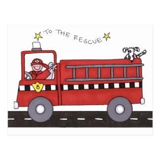 Carte Postale Pompe à incendie