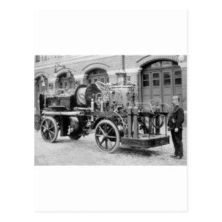 Carte Postale Pompe à incendie allemande, les années 1900 tôt