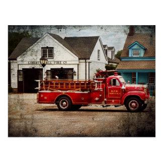 Carte Postale Pompier - compagnie de pompiers de Newark