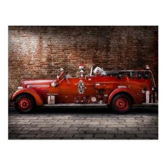 Carte Postale Pompier - moteur No2 de FGP