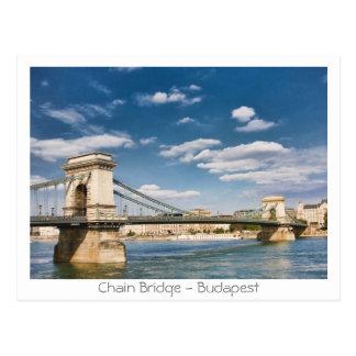 Carte Postale Pont à chaînes - Budapest