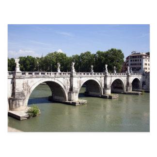 Carte Postale Pont au-dessus de la rivière le Tibre, Rome