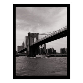 Carte Postale Pont B&W de NYC Brooklyn