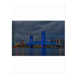Carte Postale pont bleu HDR de jax