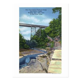 Carte Postale Pont central de NY rr, l'échelle de Jacob