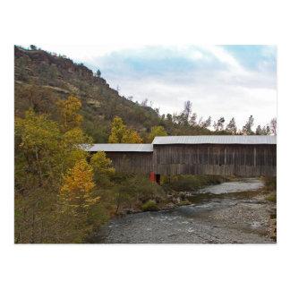 CARTE POSTALE - pont couvert couru par miel
