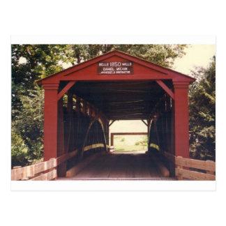 Carte Postale Pont couvert de moulins de Bells