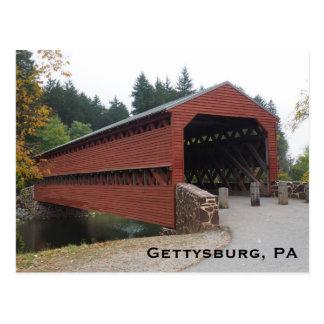 Carte Postale Pont couvert de Sachs près de PA de Gettysburg