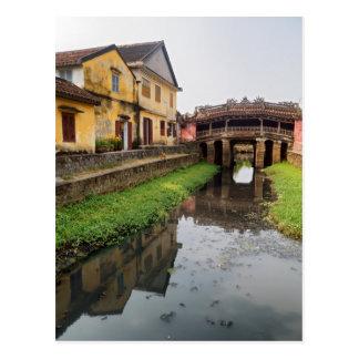 Carte Postale Pont couvert japonais, Hoi, Vietnam