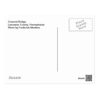 Carte Postale Pont couvert. Le comté de Lancaster, PA
