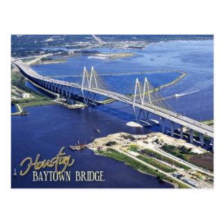 Carte Postale Pont de Baytown, la Manche de bateau de Houston,