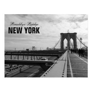 Carte Postale Pont de Brooklyn blanc noir - nr 1 de NY New York