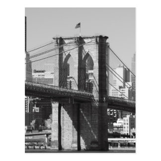 Carte Postale Pont de Brooklyn et horizon de Manhattan