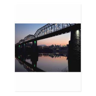 Carte Postale Pont de coucher du soleil