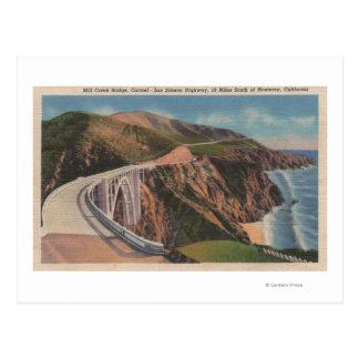 Carte Postale Pont de crique de moulin sur San Simeon Hwy près