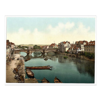 Carte Postale Pont de Fulda, Cassel (c.-à-d., Kassel),