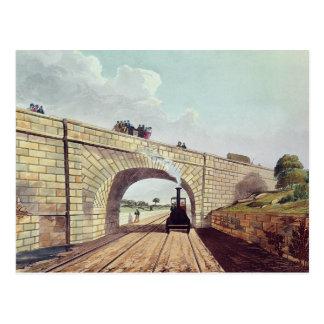 Carte Postale Pont, de 'Liverpool et de Manchester Railway