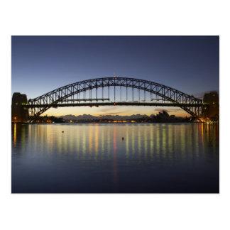 Carte Postale Pont de port de Sydney et théatre de l'opéra de