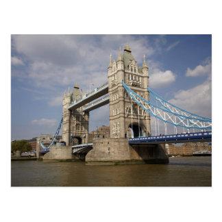 Carte Postale Pont de tour et Tamise, Londres,