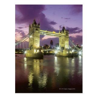 Carte Postale Pont de tour la nuit