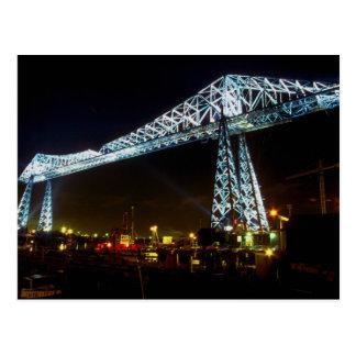 Carte Postale Pont de transporteur la nuit, Cleveland, Ohio,