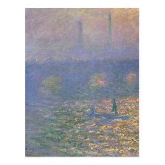 Carte Postale Pont de Waterloo, Londres par Claude Monet