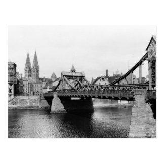 Carte Postale Pont de Weser, Brême, c.1910
