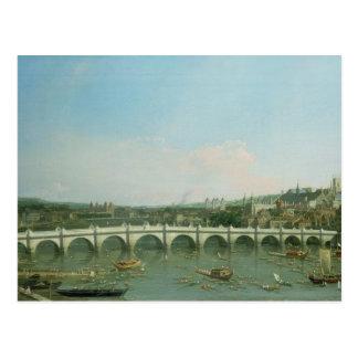 Carte Postale Pont de Westminster du nord avec Lambeth