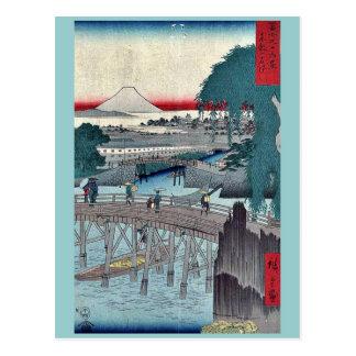 Carte Postale Pont d'Ikkoku par Ando, Hiroshige