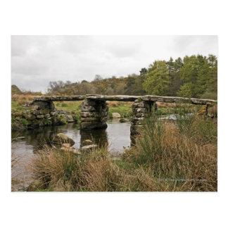Carte Postale Pont en clapet en parc national de Dartmoor