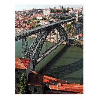 Carte Postale Pont en fer de ville de Porto, Portugal