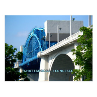 Carte Postale PONT en RUE du MARCHÉ - Chattanooga, TN
