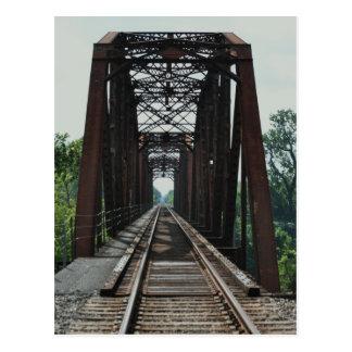 Carte Postale Pont est en voie ferrée