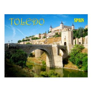 Carte Postale Pont et Alcazar d'Alcantara à Toledo, Espagne