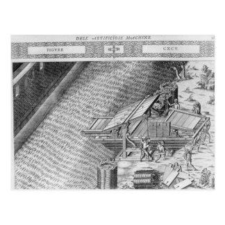 Carte Postale Pont fait sous forme de bateau