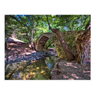 Carte Postale Pont médiéval-Vénitien de Kelefos dans la forêt de