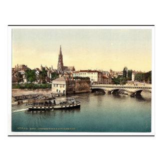 Carte Postale Pont moyen, vint de Metz, Alsace-Lorraine,