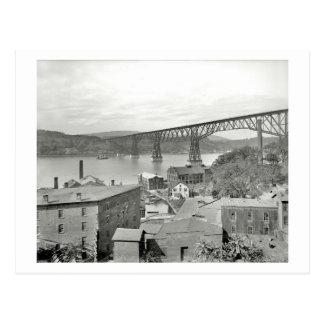 Carte Postale Pont, Poughkeepsie, cru 1908 de New York