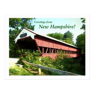 Carte Postale Pont rapide de rivière - New Hampshire