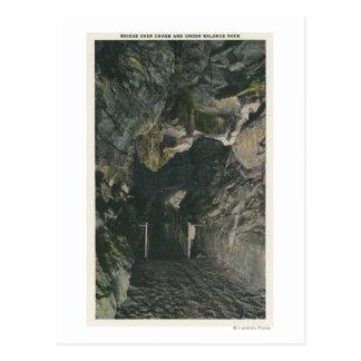 Carte Postale Pont sous la vue de roche d'équilibre