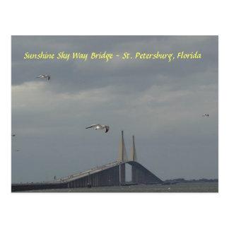 Carte Postale Pont St Petersburg, la Floride de manière de ciel