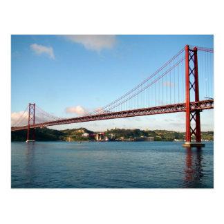 Carte Postale Pont suspendu de Lisbonne