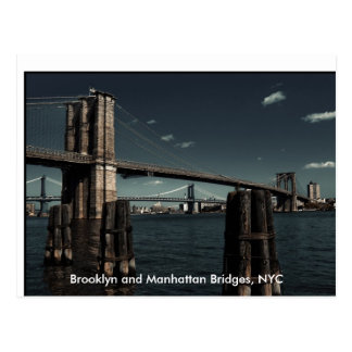 Carte Postale Ponts de Brooklyn et de Manhattan, Brooklyn et
