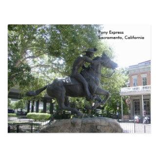 Carte Postale Pony Express