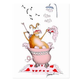 Carte Postale porc de chant, fernandes élégants