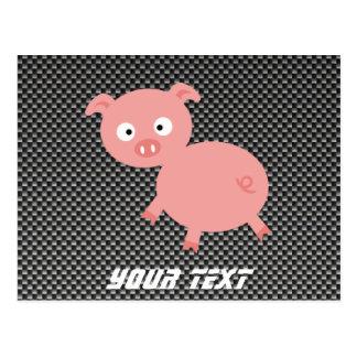 Carte Postale Porc mignon ; Fibre de carbone de Faux
