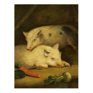 Carte Postale Porcs par George Morland