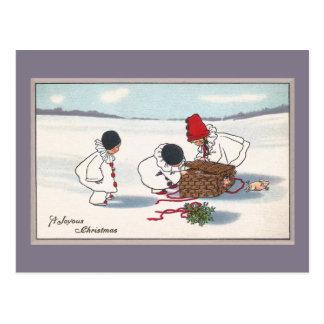 Carte Postale Porcs sur Noël de cru de fuite